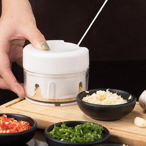 El ajo Pressers vegetal de la fruta de la torcedura Trituradora multifunción de alta Speedy Manual de picar carne máquina de cortar Chopper Cebolla cortador BH3054 TQQ