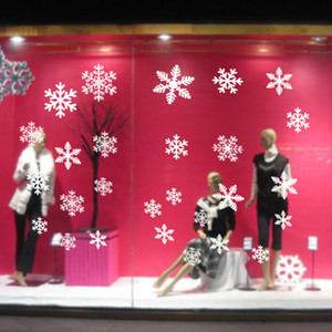 La ventana del copo de nieve se aferra a las decoraciones de la ventana de Navidad Copos de nieve de Glueless PVC Stickers para la decoración del hogar Año Nuevo