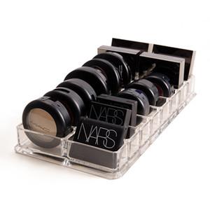 New Clear Acrylic 16 Сетки Макияж Организатор Макияж Пудра Ящик для хранения губной помады Макияж Инструменты Eye Shadow Case Jewelry Box Cosmetic T200104