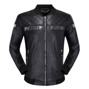 jaquetas homens marca jaqueta de couro crânio hip hop casaco homens casuais 2020ss alta qualidade mens moda de luxo no topo da Ásia Tamanho M-3XL do T
