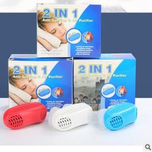 2 Em 1 ABS + Gel De Sílica Purificador De Nariz Rhinobyon Respirador Branco Vermelho Azul Snore-cessando Equipamentos Anti Ronco Cessação de Cuidados de Saúde HA115