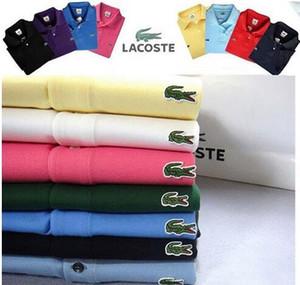 Новая марка Polos Мужчины Cro вышивки ПОЛО рубашки хлопка с коротким рукавом Camisas Polo Повседневная Стенд Воротник Мужчины поло Summer Hot Sale. 6MDD