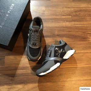 New Season luxury Designer Shoes Fashion Luxury Shoes Men's Leather Lace Up Platform Oversized Sole Sneakers White Black Casual Shoes