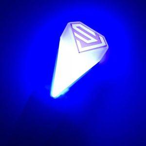 Luz Vara para Super Junior Oficial de la gira a mano enciende la lámpara del concierto del palillo del resplandor de la lámpara Mini Lightstick Para aficionados