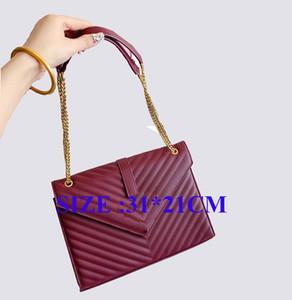 Ünlü marka tasarımcı moda lüks bayanlar zincir omuz çantaları haberci çantası kadın sıcak satış ücretsiz gönderim boyutu 31x21cm crossbody