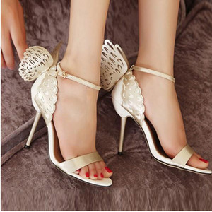 الخيال 2020 مصمم أحذية ثلاثي الأبعاد صوفيا ويبستر الفراشة بكعب عال حذاء المرأة مضخات تو اللمحة موجة الصنادل اللون