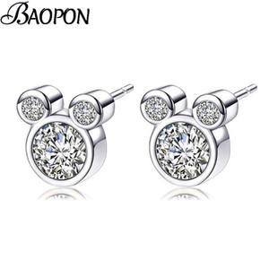 Presents Silver Color Fine Stud Earrings Sparkling Earrings For Women Kids Girls Fashion Jewelry
