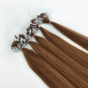 Remy Human Hair Cheap Micro Ring Hair Extension Double Drawn Micro Loop Hair Extension #6 color 18inch to 24inch 0.8gram strand 200strands