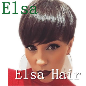 Short Brazilian Human Pixie Lace Front Hair Wigs For Black Women Glueless Short Bob Capless Wig With Baby Hair