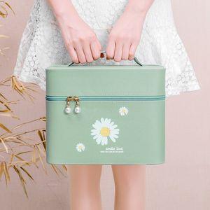 2020 new cosmetic bag ladies large capacity portable cosmetic bag fashion wash travel case storage box women's