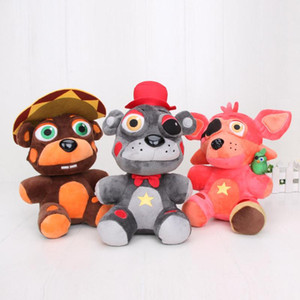 AnimeFive Nights At Freddy's Plush Doll Freddy Fazbears Pizzeria Simulator Ver Rockstar Foxy Lefty El Chip FNAF Plush Doll