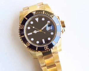 Vr. Fábrica faz ouro 18k com material composto de platina amarelo m116618lb-0003 40 milímetros tipo de movimento: máquina automática relógio preto