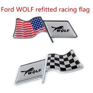 Применимо к Ford WOLF модифицированный американский флаг Racing flag Fender / стикер топливного бака / наклейки на автомобиль декоративный рукав