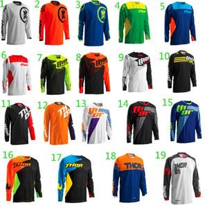 THOR Thor Hız Aşağı TLD Bisiklet Jersey Çeşit Uzun Kollu Gömlek Erkekler Açık Motokros Hızlı kuruyan Gömlek