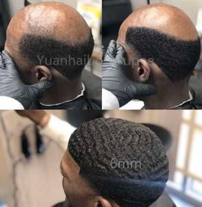 Hombres Peluca de pelo 4mm / 6mm / 8mm / 10mm / 12mm Wave Encaje completo Tupee Toupee Old Toupee Malassian Virgin Human Hair Reemplazo para los hombres Envío gratis