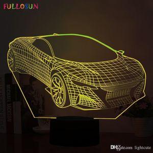 Araba ile Komik 3D Özet LED Gece lambası Tatiller Presents için USB Danışma Lambası Shape