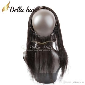 360 Lace Band Frontal Closures Grade 7A Brazilian Virgin Hair Silky Straight 360 Lace Frontal 13*2 Bella Hair Free Shipping