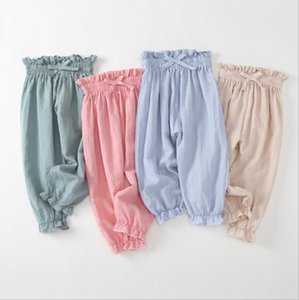 Infant Pants Kids Summer Anti-Mosquito Trousers Boys Girls Home Casual Bloomers Elastic Soft Pants Air Conditioning Pants Night Pajama YP284