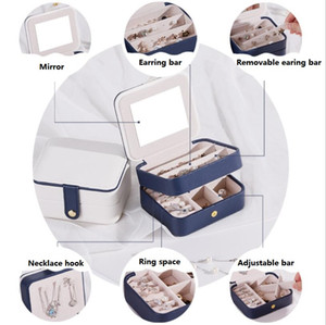 Stackable Velvet Jewelry Trays Organizer Jewelry Box Earring Necklace Bracelet Ring Storage Case Layers PU Leather Jewellery Organizer Box