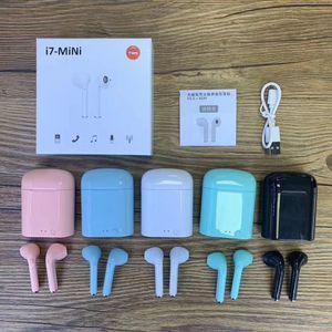 i7 Mini TWS drahtloser Bluetooth Kopfhörer Doppel Earbuds mit Ladegerät Dock Stereo-Kopfhörer für iPhone Xs 8 7 Plus-S9 Plus-Android