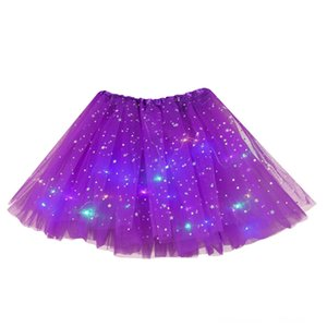 Colors Women Tutu Skirt Star Sequins Skirts Women's Clothing LED Light Up Neon Colorful Stage Dance Wear Party Cosplay Short Skirts Availabl