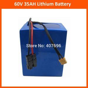 Libre utilisation des droits de douane 60V 35AH Lithium batterie 60V 35AH moto batterie utilisation 3.7V 5000MAH 26650 cellule avec chargeur 50A BMS 5A