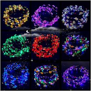 Yüksek Kaliteli LED dizeleri Glow Çiçek Taç Bantlar Işık Parti Rave Çiçek Saç Garland Aydınlık Çelenk Düğün Çiçek Kız çocuk oyuncakları