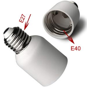 Titular E27 Para E40 Led Lamp Conversor de plástico Início Fireproof Bulb Médio Luz Acessórios Screw White Base adaptador de tomada