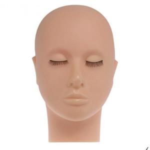 Herramienta de formación de masaje falso modelo NEW-maniquí de cabeza plana Práctica de silicona extensiones de pestañas Maquillaje