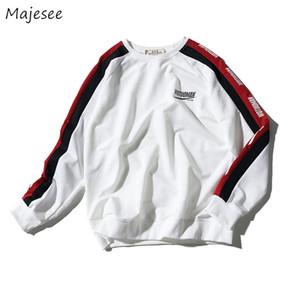 Hoodies Men Plus Velvet O-Ansatz Brief gedruckte große Größe Harajuku Students Pullover Mens koreanische Qualitäts-Chic Sweatshirts