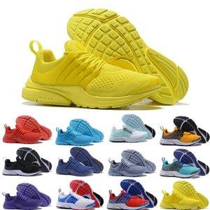 Size36-45 Safari Pack PRESTO 5 BR QS Breathe Negro Blanco Amarillo Rojo Hombres Mujeres Zapatillas de running Hombre Racer Blue Walking diseñador Zapatilla deportiva