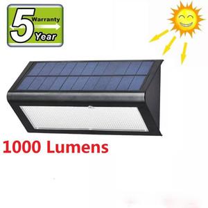 Sensor de movimiento de Radar de microondas luz Solar 48 LED Super brillante 1000lm 4 modos lámpara de pared de jardín al aire libre