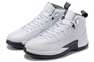 2019 новый 12 12S обратный такси белый серый баскетбол обувь мужчины 12 международный рейс токио япония замша спортивные кроссовки высокое качество