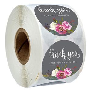 Rolo Floral Obrigado adesivos Robisores de papel revestido etiqueta etiqueta artesanal envelope envelope cartão cartão adesivos