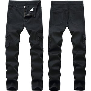 Mens Jeans New Fashion Style Men Jeans with Pocket Slim Fit Denim Casual Male Biker Jeans Asian Size