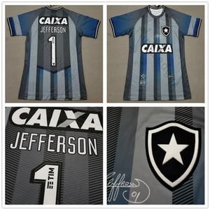 2019 2020 Botafogo Camisola de Futebol Edição Home Cinza # 1 JEFFERSON Camisa Uniforme de Futebol Retro Especial Edição Comemorativa Goleiro