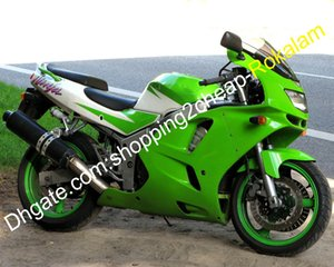 White Green ZX6R Fairing per Kawasaki Ninja ZX-6R 1994 1995 1996 1997 ZX 6R 94 95 96 97 ABS Set di carenze in plastica
