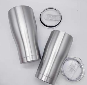 30oz Curved tumbler with lid lid double walls Stainless Steel vacuum Insulated travel mug for free shipping A10