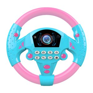 Steering Wheel Toy,Sound Light Simulated Driving Toy Pretend Driving Early Educational Toy for Toddlers Babies