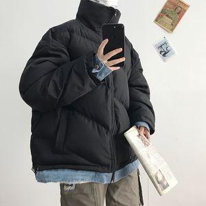 Winter Denim Stitching Thickened Jacket Men Warm Parka Men Fashion Stand Collar Coat Mens Wild Loose Short Coat Male Clothes
