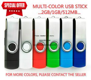 OTG USB Flash Card pour Android 2 Go / 1 Go / 512 Mo USB Flash Drive Couleur Rotary Stick Pen Drive mémoire USB Pendrive libre logo personnalisé / Création