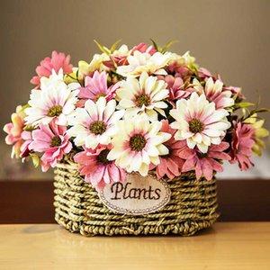 Nuovo arrivo 1 Bouquet vintage di seta fiore fiori artificiali europee autunnali Daisy falso Foglia, Decorazione domestica Wedding del partito