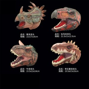 Cross Border Simulated Dinosaur Models Hand Puppet Interactive Animal Gloves Dinosaur Toy Props T-Rex Tiger Zebra