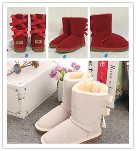 Snow Boots dei nuovi bambini di inverno Australia stile impermeabile in pelle di mucca pelle scamosciata ragazze di inverno all'aperto Stivali Marca Ivg Dimensioni EUR 21-35