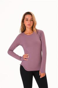 NWT Women Long Sleeve T shirt Sexy Yoga 4-way Stretch Tank Top Sports T Shirt Fitness Gym Running Tops Tee Free shippping