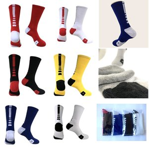 Terry towel sports socks Professional Elite Basketball Sock Long Knee Athletic Men Fashion Compression Thermal Winter Socks Quick drying