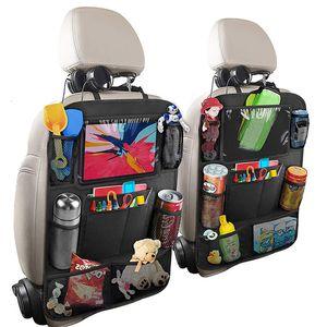 Auto Backseat Organizer con tablet touch screen Holder + 9 Pocket Pocket Kick Mats Seggiolino auto Seggiolino per bambini Protezioni per bambini Toddlers