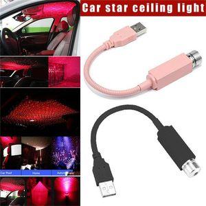LED 자동차 지붕 스타 나이트 라이트 프로젝터 분위기 갤럭시 램프 USB 장식 램프 조정 가능한 다중 조명 효과 스타 장식 램프