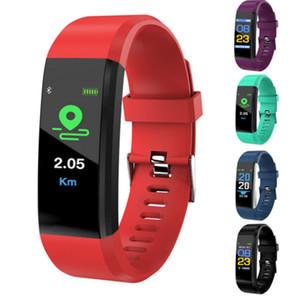 Fabrika LCD Ekran ID115 Artı Akıllı Bilezik Spor Izci Pedometre Watch Band Nabız Kan Basıncı Monitörü Akıllı Bileklik