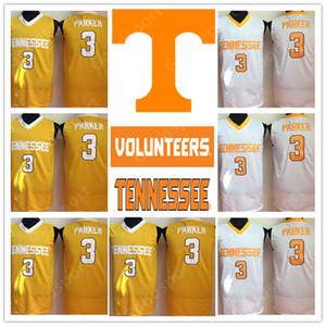 NCAA TennesseeVolunteers 3 Candace Parker Weiß College Basketball Swingman Jerseys Jersey Shirts billig ganze Sportart Basketball 2